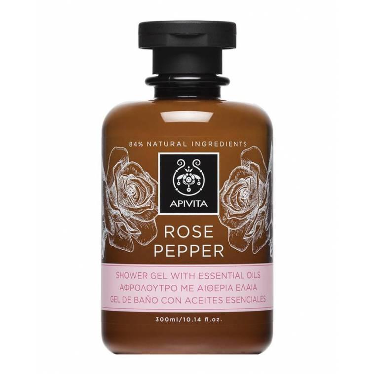 Apivita gel de ducha Rosa y Pimienta