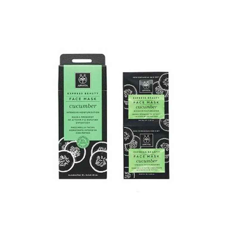 Apivita Mascarilla Natural Hidratante de Pepino Express Beauty 2x8ml