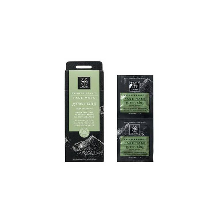 Apivita Mascarilla Natural Limpiadora de Arcilla Verde 2x8ml