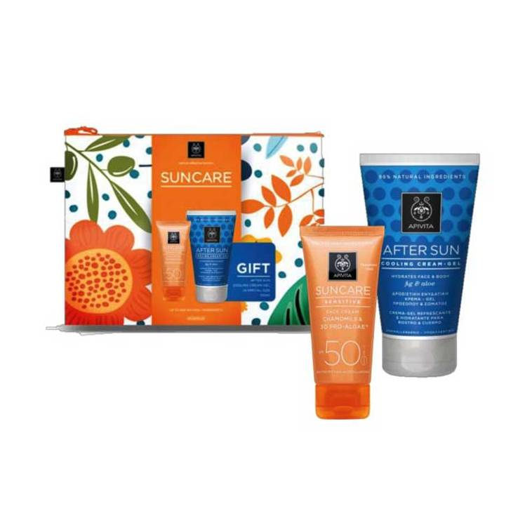 Apivita Suncare Neceser Crema Solar Facial Sensitive SPF50 + REGALO After Sun