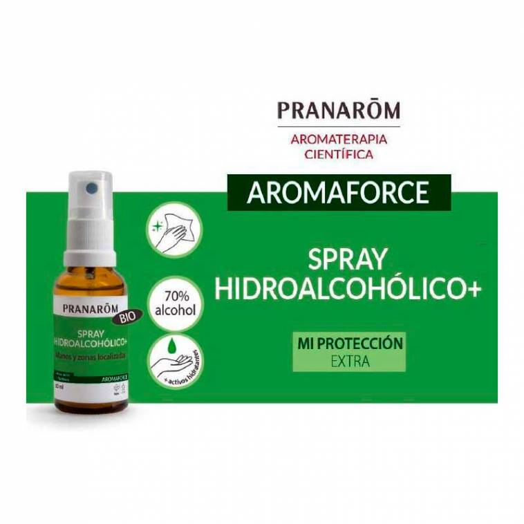 Pranarom Spray hidroalcohólico para manos, superficies y mascarillas