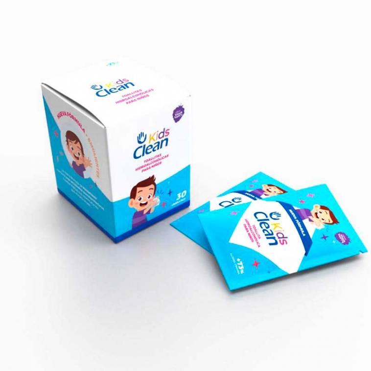 Kids Clean Toallitas Hidroalcolicas Caja 30 uds.