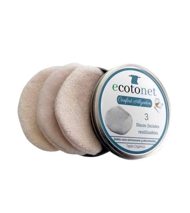 Ecotonet confort discos de algodón crudo