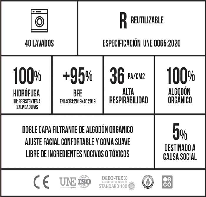 Mascarilla reutilizable rewinder40